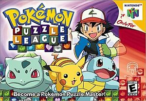 Pokemon-Puzzle-League-Nintendo-64-N64-Authethic-OEM-Video-Game-Cart-Retro-Kids
