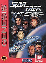 Star Trek The Next Generation -- Echoes From The Past Sega Genesis, 1994  - $2.20