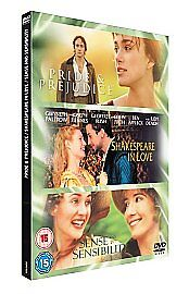 Pride And Prejudice/Sense And Sensibility/Shakespeare In Love (DVD, 2007, 3-Disc