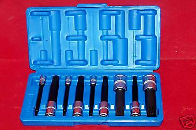 9 Pc Xzn Triple Square Spline Bit Socket 12 Points