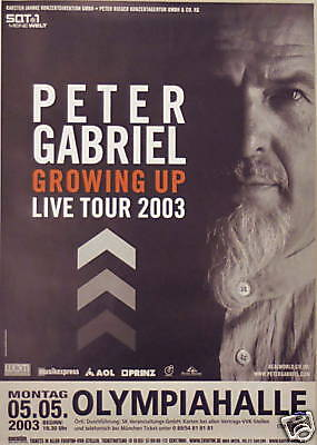 PETER GABRIEL CONCERT TOUR POSTER 2003 UP GENESIS