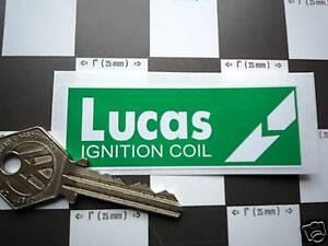 LUCAS Classic Car Green 'Break' COIL STICKER Restoration Ignition Under Bonnet T