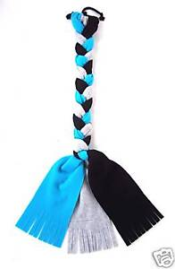Horse Tail Wrap Fleece Braid-In Turquoise/Black/Gray