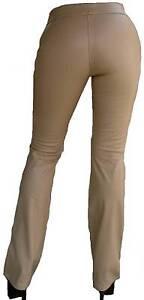 Beige Miss Soixante Modèle Roxy Cuir Pantalon Optique Jeans Stretch 27 34 W27