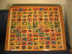 1966-Topps-Green-Hornet-Stickers-Uncut-Sheet-No-Folds
