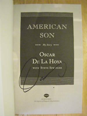 American Son Signed By Oscar De La Hoya Boxing +photo