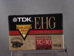 TDK-EHG-TC-30-Extra-High-Grade-VHS-Camcorder-Tape