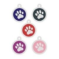 Engraved Pet Id Tag Stainless Steel Colored Paw Hot