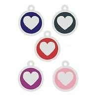 Engraved Pet Id Tag Stainless Steel Colored Heart Hot