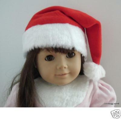 "Lovvbugg Santa Elf Hat Cap for 18"" American Girl or Bitty Baby Doll Accessory"
