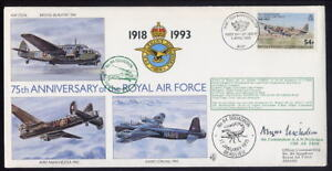 GB 75th Anniv RAF84 Sq flown cover SIGNED Air Commodore