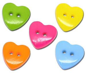 100-Mixed-Heart-2-Holes-Acrylic-Sewing-Buttons-15x14mm