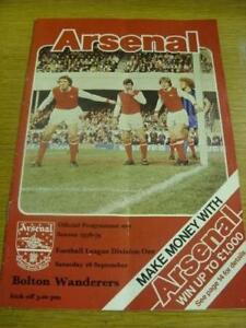 16-09-1978-Arsenal-v-Bolton-Wanderers-Token-Missing