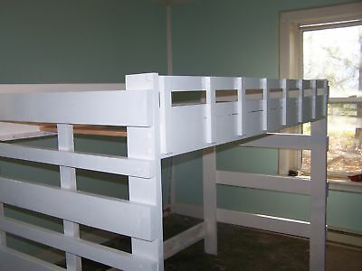 full size heavy duty loft bed 60 inches tall ebay. Black Bedroom Furniture Sets. Home Design Ideas