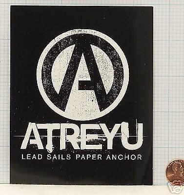 ATREYU Lead Sails Paper Anchor PROMO STICKER DECAL BJ