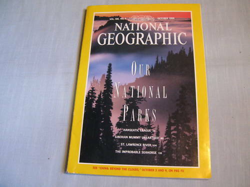 NATIONAL GEOGRAPHIC October 1994 NATIONAL PARKS Siberian Mummy SEAHORSE