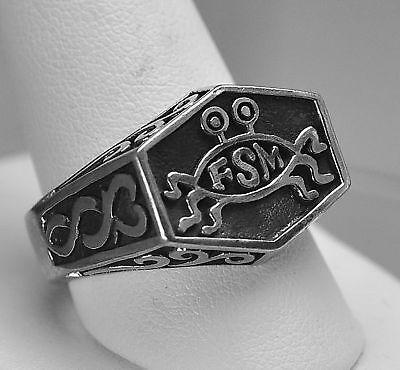 Silver-925-Flying-Spaghetti-Monster-Atheist-FSM-Ring
