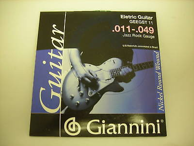 Giannini Electric Guitar Strings (.011 - .049) 3 Sets