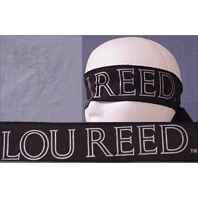 LOU REED! PRINTED NAME LOGO BLACK HEADBAND NEW!