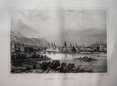 Insbruck Gesamtansicht  Österreich Stahlstich 1840