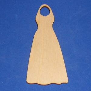 HALTER-DRESS-Unfinished-Wood-Shape-Cut-Out-HD5118-Lindahl-Woodcrafts
