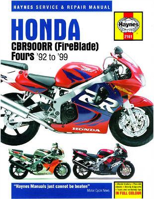 Honda CBR900RR CBR900 FireBlade 1992-1999 Haynes Manual 2161 NEW