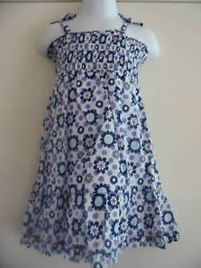 BNWT Cherokee Blue Floral Print Sun Dress 12-18 Months