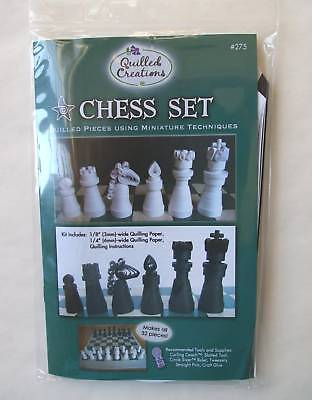 Chess Set Quilling Kit Make All The Pieces