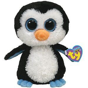 TY-BEANIE-BABY-BEANIE-BOOS-WADDLES-THE-PENGUIN