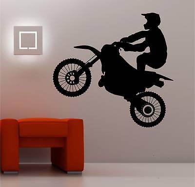 Enorme Motocross Bicicleta Pared Art Pegatina Vinilo Ni Os