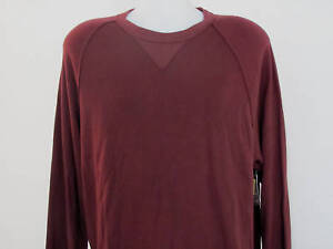 NEW-Mens-XL-EXTRA-LARGE-R-Y-Pullover-Thermal-Waffled-L-S-Shirt-MAROON-28