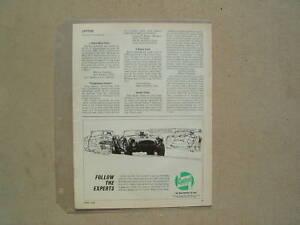 1965 CARROLL SHELBY COBRA **ORIGINAL AD** CASTROL OIL