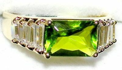 Men's Peridot & Topaz Ring August Birthstone