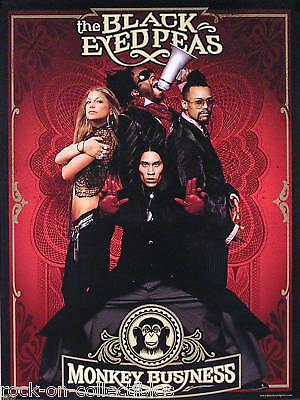 Black Eyed Peas 2005 Monkey Business Original Promo Poster