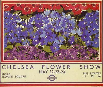 1935 Chelsea Flower Show London TravelA3 Poster Reprint