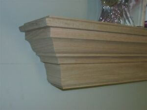 solid oak wooden fireplace mantel mantle wall shelf