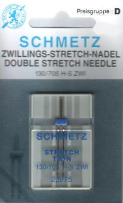 Schmetz Zwillingsnadel Stretch 130/705 H-S ZWI  2,5/75 Twin Needle