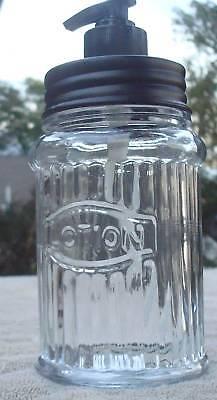 Unique Hoosier Cabinet Jar Glass Lotion Dispenser