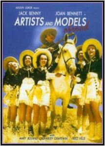 ARTISTS AND MODELS ABROAD - 1938 DVD - Jack Benny - Joan Bennett - Monty Woolley
