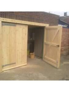 Side Hung Side Hinged Timber Wooden Garage Door Gates