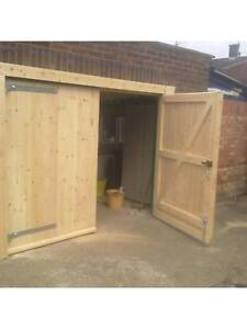 Side Hung Side Hinged Timber Wooden Garage Door Gates - BARN DOORS ...