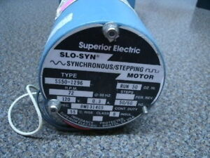 Superior Electric Ss50 1296 Slo Syn Motor New Ebay