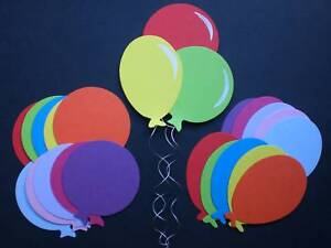 Sizzix PARTY / BIRTHDAY BALLOON Die-cuts Assorted Colours 2 Sizes!