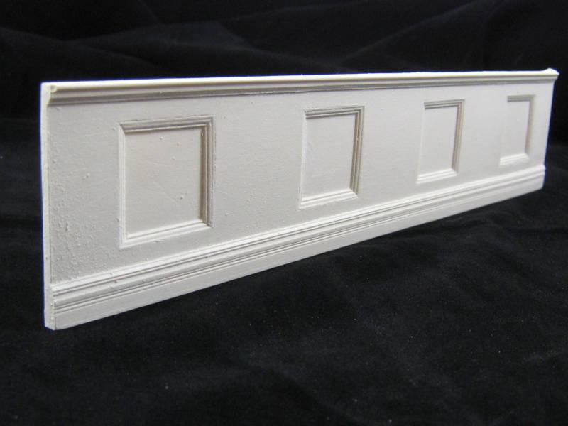 Wainscot Panel Dollhouse Wall Cast Miniature Umwc1 1pc 1/12 Scale