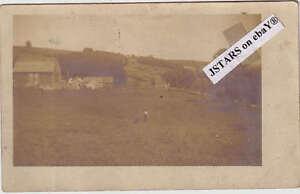 1909 WEST LAURENS, NY, FARM SCENE PHOTO POSTCARD RPPC