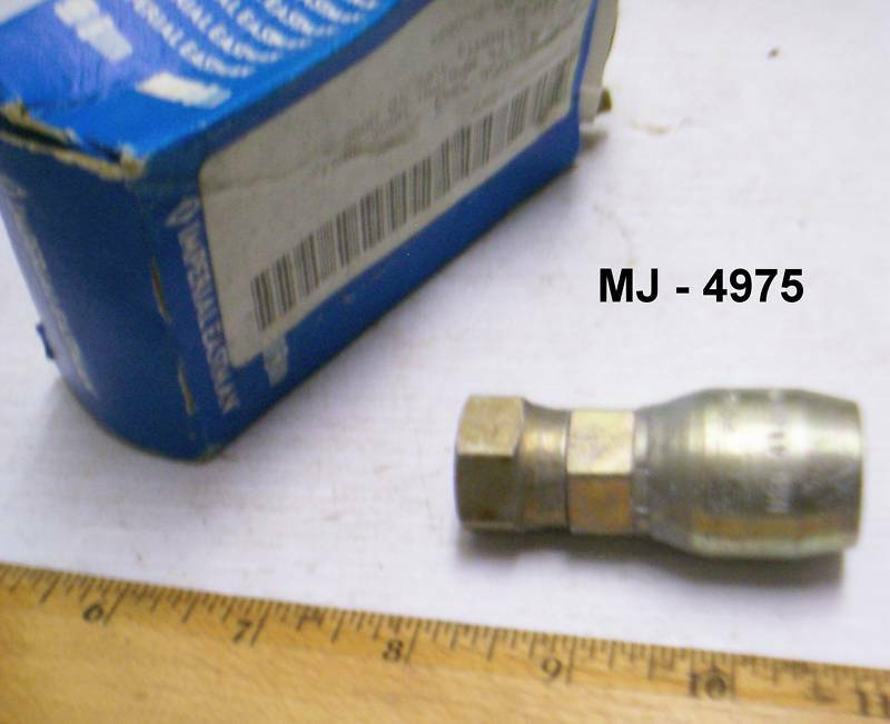 Imperial Eastman - Tube to Hose Straight Adapter -  P/N: HG06-08NJ (NOS)