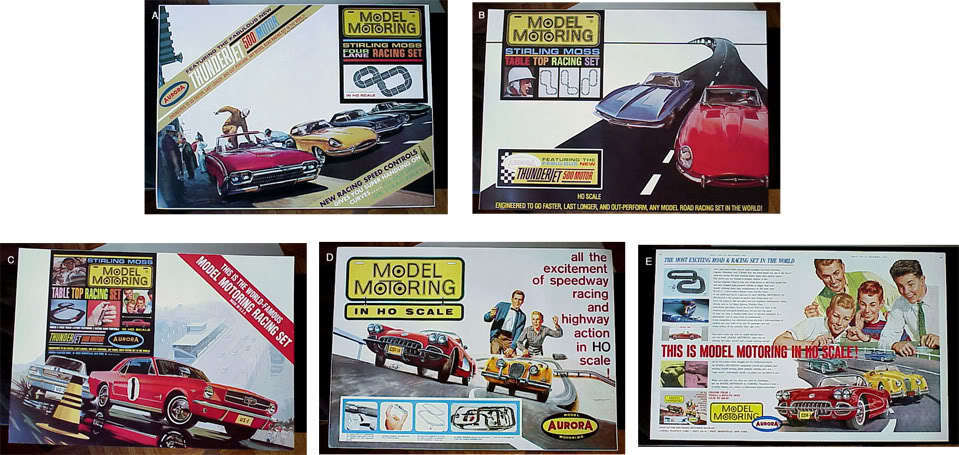 Model Motoring T-jet Set Box Reproduction Poster
