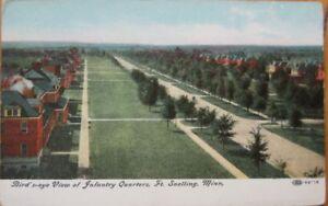 1910-PC-Barracks-Fort-Snelling-St-Paul-Minnesota-MN