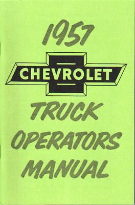 1957 Chevrolet Truck Light-heavy Duty Owner's Manual