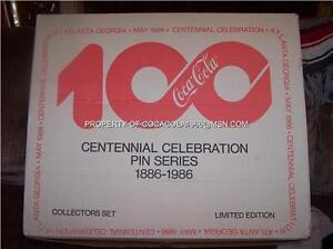 Coke-CENTENNIAL-1000-Set-100-Pin-Coca-Cola-LTD-BOX